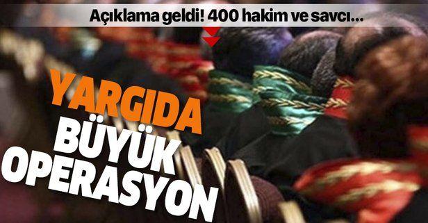Son dakika: HSK'dan flaş açıklama: 400 hakim savcı ile ilgili devam eden soruşturma var