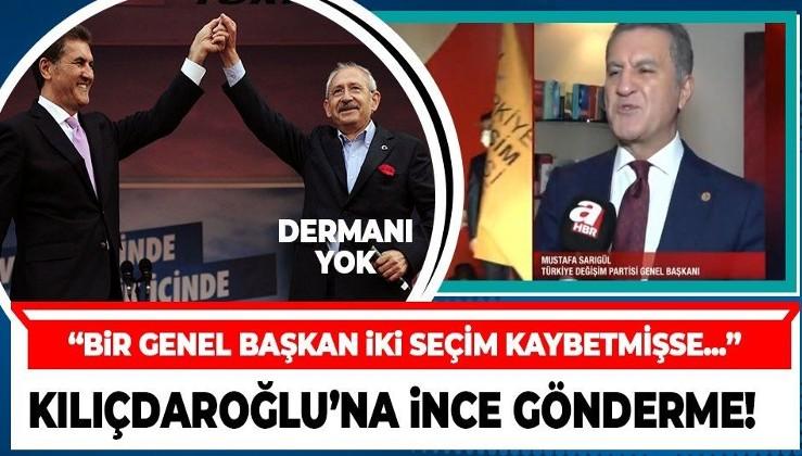 TDP Genel Başkanı Mustafa Sarıgül'den Kılıçdaroğlu'na gönderme: Bir genel başkan iki seçim kaybetmişse...