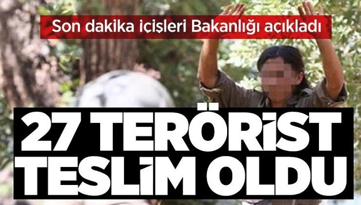 SON DAKİKA: İki terörist daha güvenlik güçlerine teslim oldu: Sayı 27'ye yükseldi