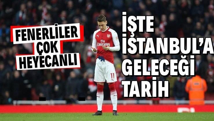 SON DAKİKA: Fenerbahçelileri sevindiren haber! Mesut Özil en geç 17 Ocak Pazartesi İstanbul'da olacak