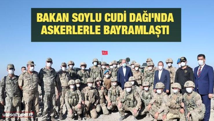Bakan Soylu Cudi Dağı'nda askerlerle bayramlaştı
