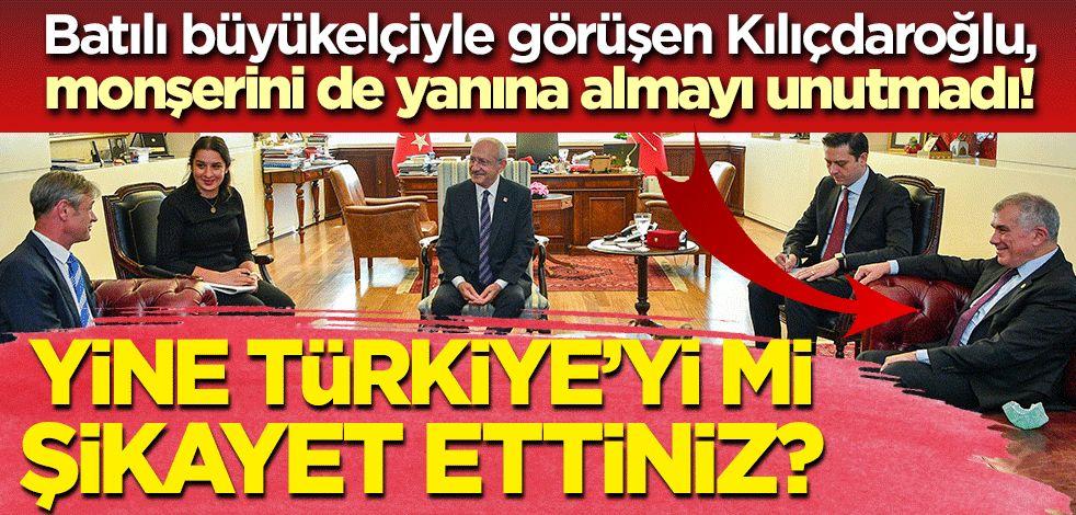 Batılı büyükelçiyle görüşen Kılıçdaroğlu, monşerini de yanına almayı unutmadı!