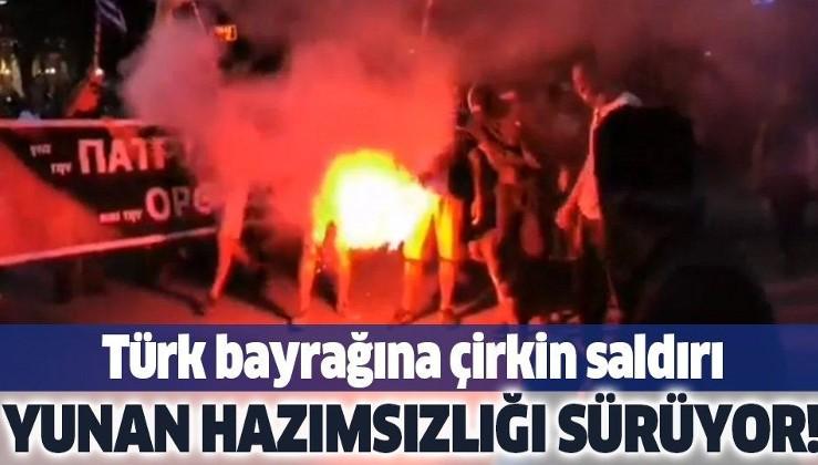 YUNANİSTAN'A TURİSTİK GEZİLER YASAKLANSIN, EKONOMİLERİNİ AYAĞA KALDIRIYORUZ! Türk bayrağına çirkin saldırı
