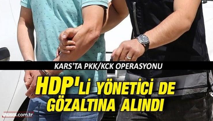 Kars'ta PKK/KCK operasyonu: HDP'li yönetici de gözaltına alındı