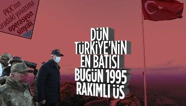 SON DAKİKA: Milli Savunma Bakanı Hulusi Akar ve TSK komuta kademesi 1995 rakımlı Namaz Dağı'nda