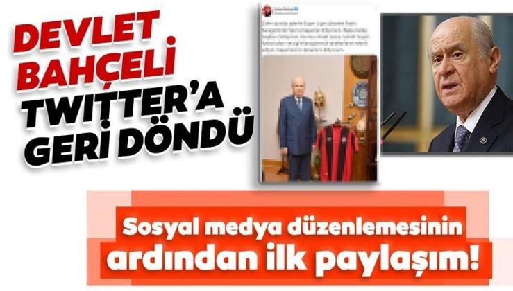 Sosyal medya düzenlemesinin ardından Devlet Bahçeli'den ilk Twitter paylaşımı!