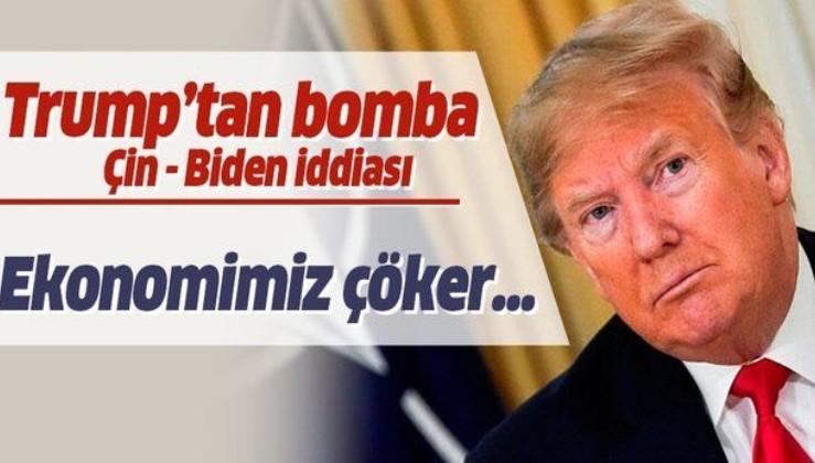 ABD Başkanı Trump'tan dikkat çeken Çin-Biden iddiası!