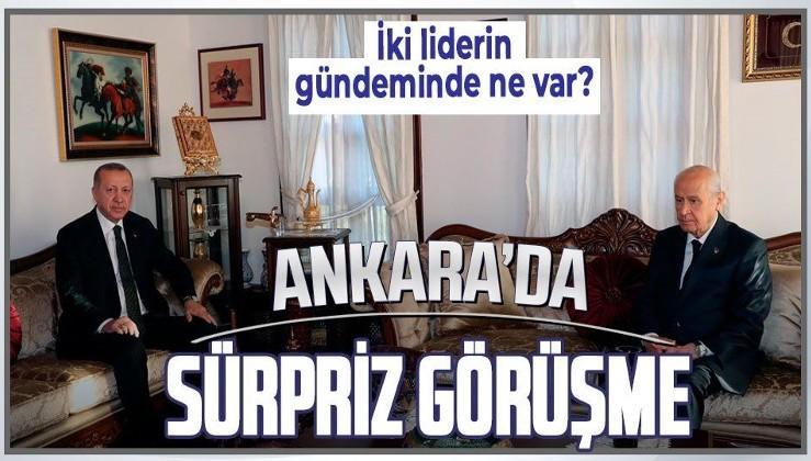 Cumhurbaşkanı Erdoğan, Bahçeli arasında önemli görüşme