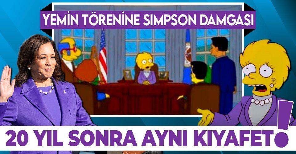 SON DAKİKA: ABD'deki Biden ve Harris'in yemin törenine Simpsonlar damga vurdu! 20 yıl önceden bildiler
