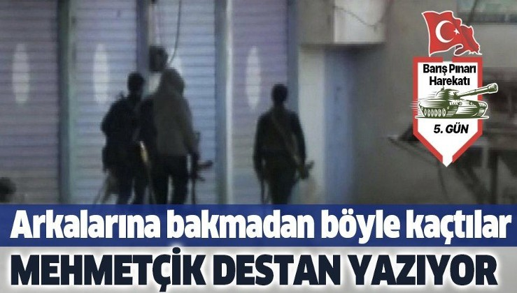 Son dakika: Resulayn'daki teröristlerin çekilme anları böyle görüntülendi.