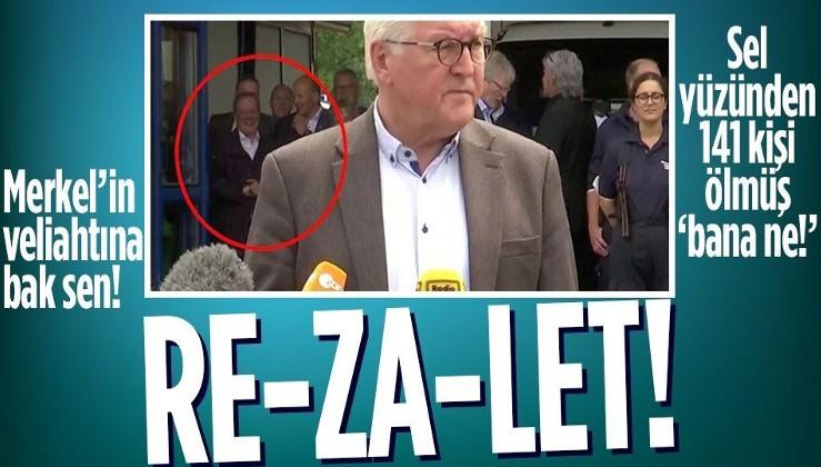 Almanya'da sel felakti bölgesine giden Merkel'in veliahtı Armin Laschet'ten skandal hareket!