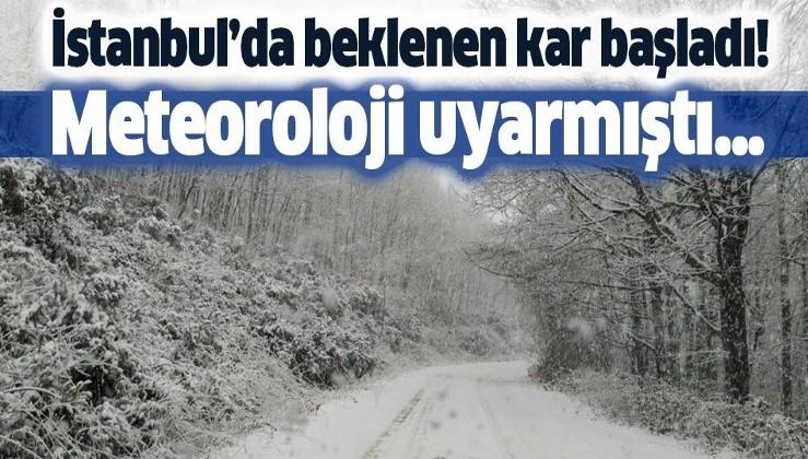 Meteoroloji uyarmıştı! İstanbul'da beklenen kar yağışı başladı