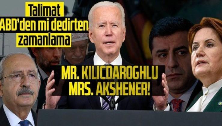 ABD'li senatörlerle eşgüdüm halinde  Kılıçdaroğlu ve Akşener teröristlere kalkan oldu!