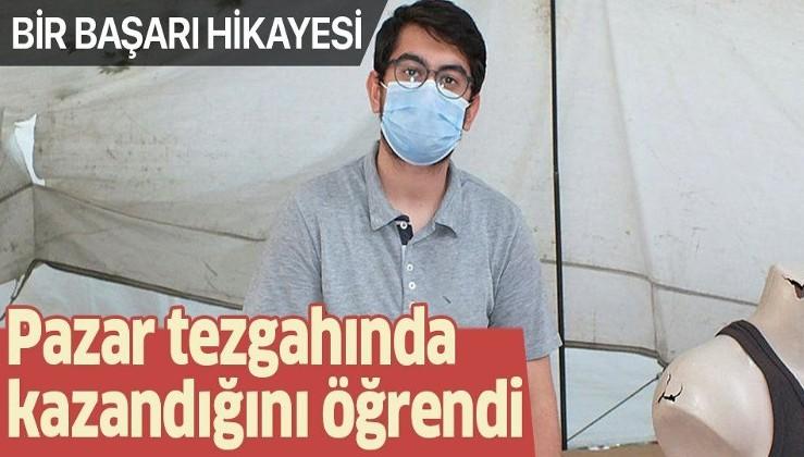 Melih Buğra Ertek, pazar tezgahında tıp fakültesini kazandığını öğrendi