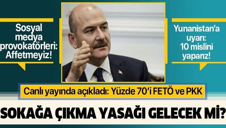 İçişleri Bakanı Süleyman Soylu'dan flaş koronavirüs açıklaması: Sokağa çıkma yasağı gelecek mi?.