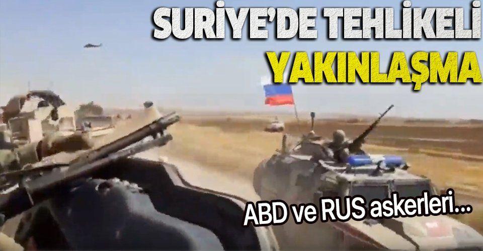 Suriye'de tehlikeli yakınlaşma! Rus askeri aracının ABD askeri aracına çaptığı öne sürüldü