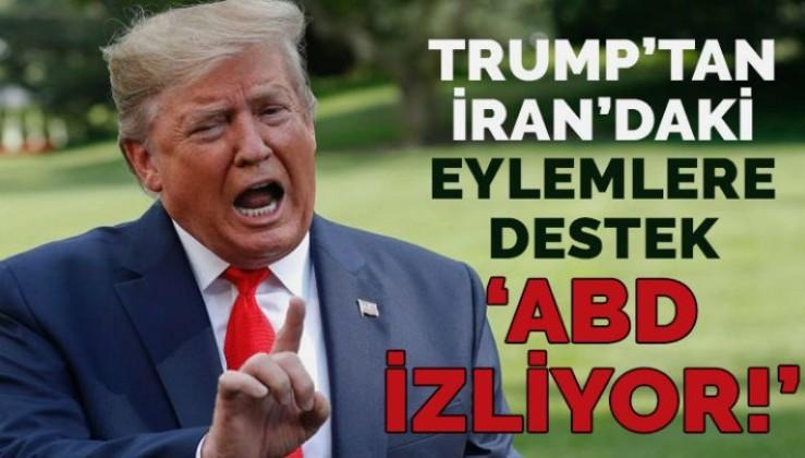 Trump'tan eylemcilere destek İran yönetimine tehdit