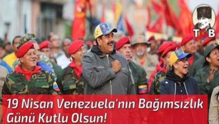 Emperyalizme karşı direnen Venezuela'nın Bağımsızlık Günü Kutlu Olsun!