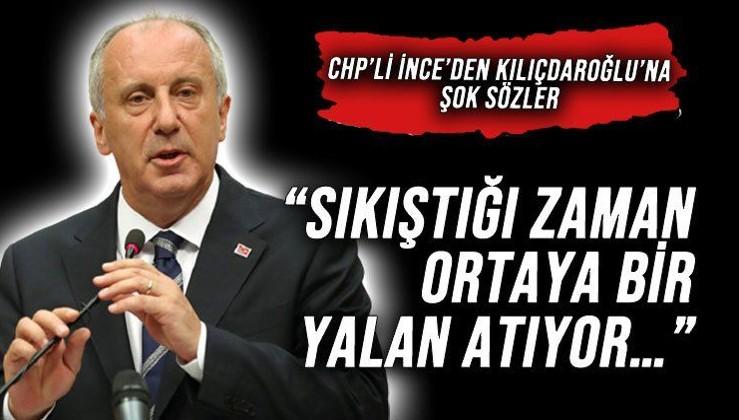 Muharrem İnce'den Kemal Kılıçdaroğlu'na: Atatürk'ün koltuğunda oturan bir kişi yalan söyleyemez