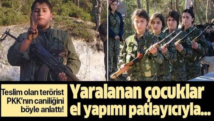 """Teslim olan terörist PKK'nın caniliğini böyle anlattı: """"Yaralanan çocuklar el yapımı patlayıcıyla...""""."""