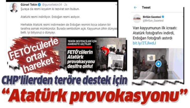 Gürsel Tekin'den FETÖ'cülerle birlikte Atatürk provokasyonu.