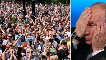 """""""Путін не вірить своїм очам!"""" - Протести з Хабаровська перекинулися на Москву і Санкт-Петербург (відео)"""