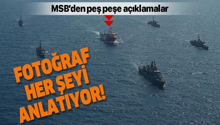 Milli Savunma Bakanlığı: Oruç Reis araştırma gemisine Türk Deniz Kuvvetleri tarafından refakat ve koruma