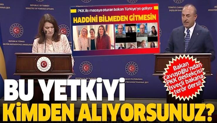 Son dakika: Bakan Çavuşoğlu'ndan terör sevici Linde'ye sert tepki: Bu yetkiyi kimde alıyorsunuz?