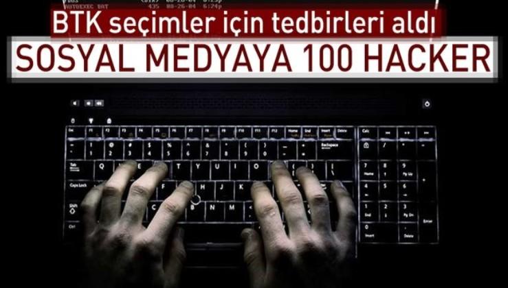 Sosyal medyaya 100 hacker