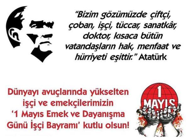 """""""Bizim gözümüzde çiftçi, çoban, işçi, tüccar, sanatkâr, doktor, kısaca bütün vatandaşların hak, menfaat ve hürriyeti eşittir."""" Mustafa Kemal ATATÜRK ..."""