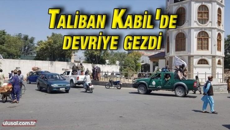 Taliban Kabil'de devriye gezdi