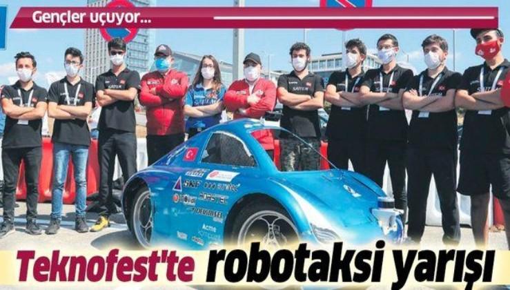 Teknofest'te robotaksi yarışı