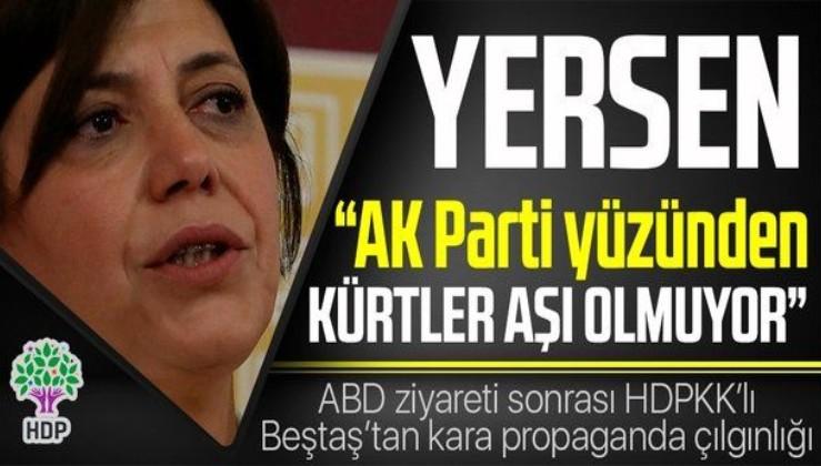 PKK destekçisi HDP'li Meral Danış Beştaş, AK Parti yüzünden Kürtlerin aşı olmadığını iddia etti
