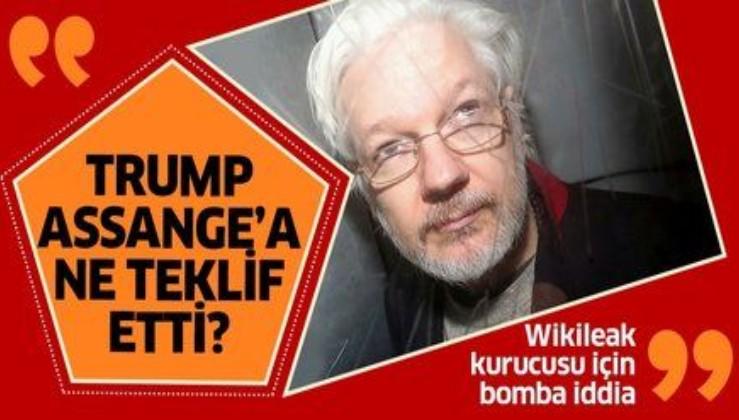 Wikileaks Kurucusu Julian Assange hakkında bomba iddia! Trump'tan şartlı af teklifi mi gitti?