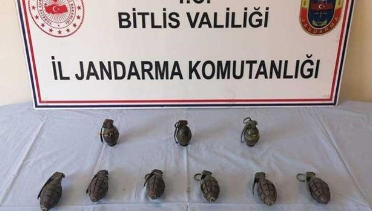 Son dakika: Bitlis'te PKK'ya ait el bombaları ele geçirildi