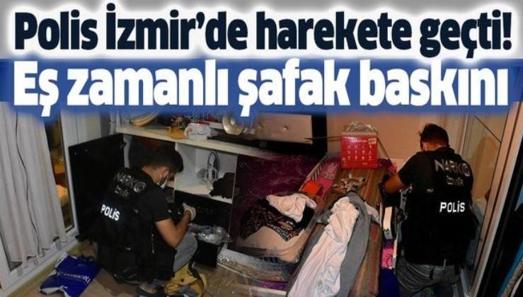 Son dakika: İzmir'de uyuşturucu satıcılarına eş zamanlı şafak baskını
