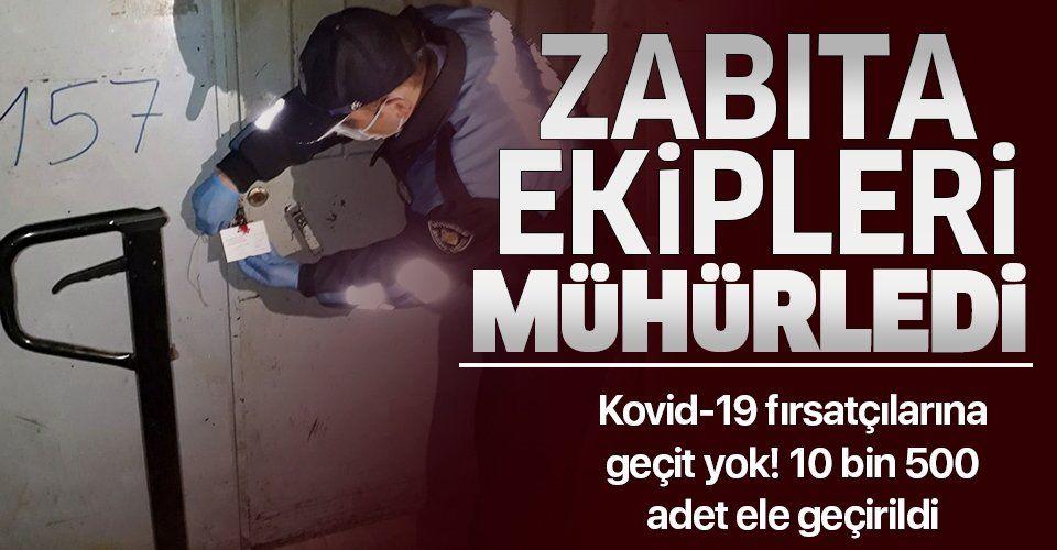 Son dakika: Zeytinburnu'nda kaçak maske operasyonu: 10 bin 500 adet ele geçirildi