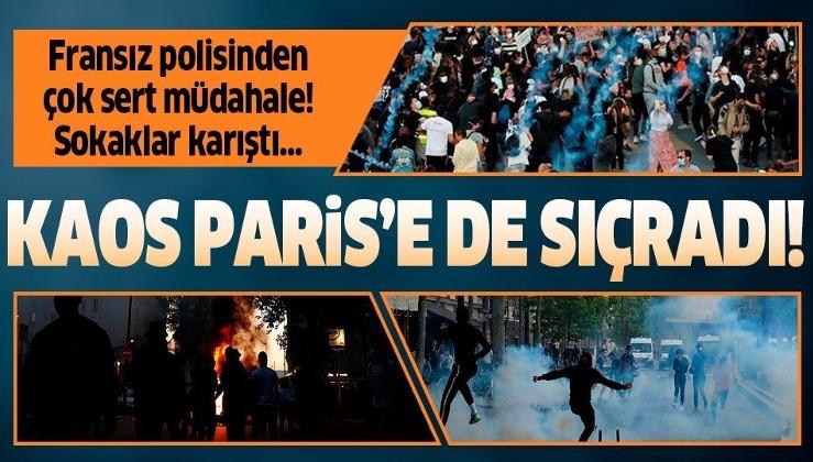 Kaos Paris'e de sıçradı! Polis şiddetinin protesto edildiği gösteri olaylı sona erdi