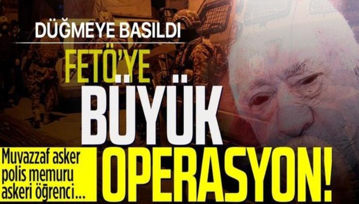 FETÖ'ye yönelik İzmir merkezli operasyon! Aralarında muvazzaf askerlerin ve polislerin de olduğu 84 şüpheli...