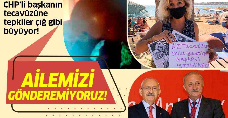 CHP'li Didim Belediye Başkanı Atabay'a tepkiler çığ gibi büyüyor: Tecavüzcü başkan istemiyoruz