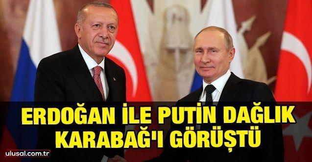 Cumhurbaşkanı Erdoğan ile Rusya Devlet Başkanı Putin Dağlık Karabağ'ı görüştü