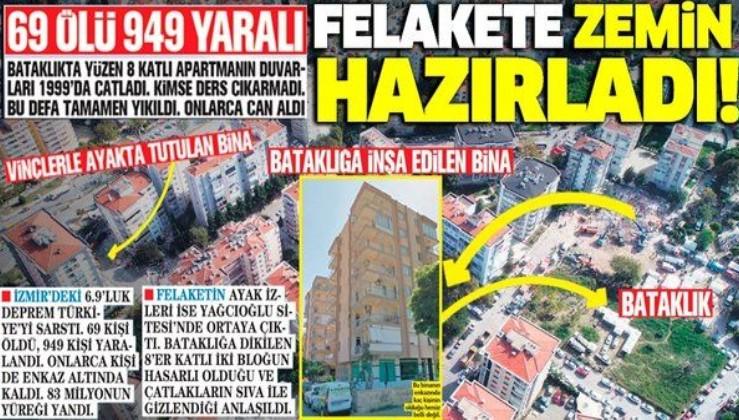 İzmir'de bataklığa dikilen Yağcıoğlu Apartmanı felakete zemin hazırladı