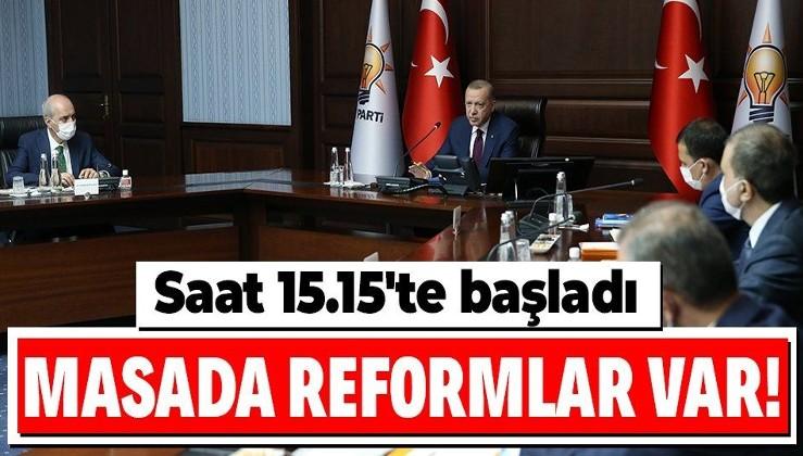 Son dakika: Reformlar AK Parti MYK'da masaya yatırılacak: Kritik toplantı Erdoğan liderliğinde başladı