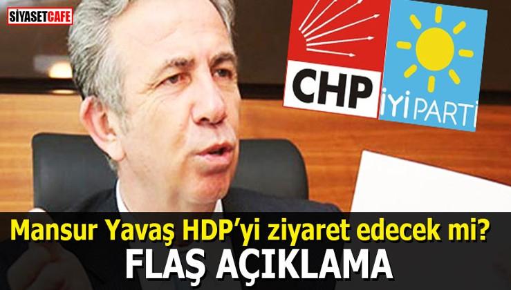 Mansur Yavaş HDP'yi ziyaret edecek mi? Flaş açıklama