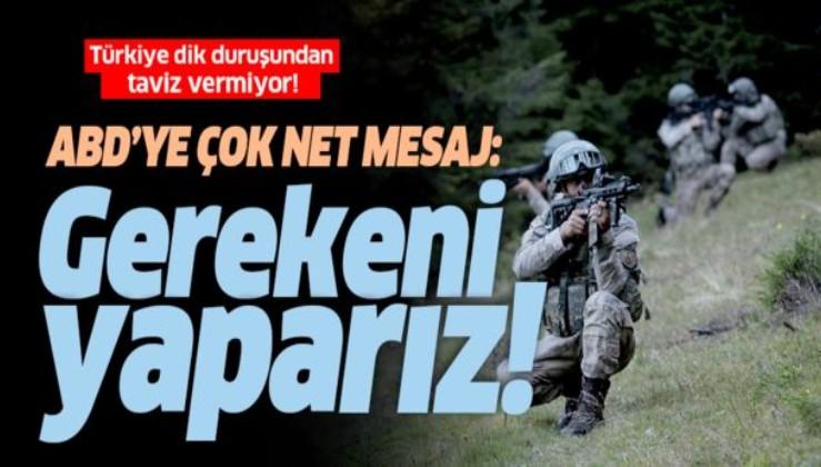 Bakan Çavuşoğlu: 120 saat sonra bir tane bile YPG/PKK teröristi kalmayacak.
