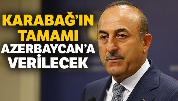 Çavuşoğlu: Ateşkes sorunu çözülmediği sürece gerginlik devam edecek