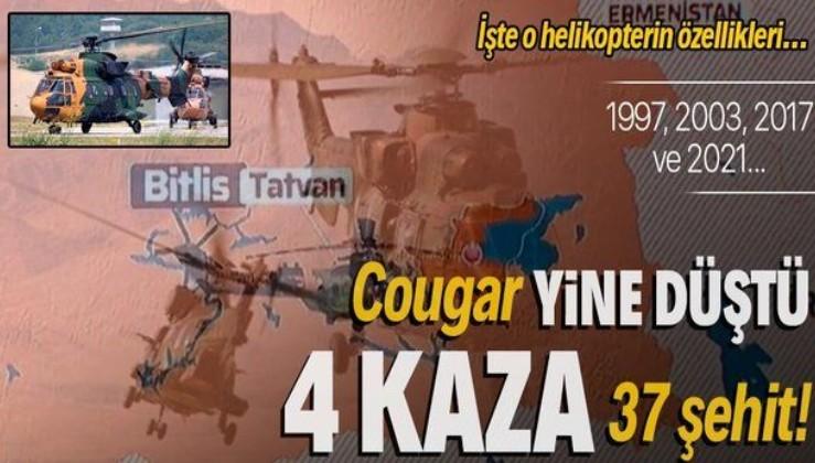 4 kazada 37 şehit verdik! Tatvan'da Cougar tipi helikopter kırıma uğradı: İşte o helikopterin özellikleri