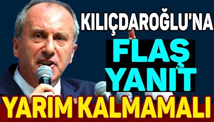 Kılıçdaroğlu, adaylık açıklamasına tepki göstermişti… Muharrem İnce'den yanıt geldi