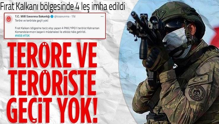 Son dakika: Fırat Kalkanı bölgesine taciz atışı yapan 4 PKK/YPG'li etkisiz hale getirildi