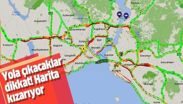İstanbul'da trafik yoğunluğu yüzde 53'e ulaştı! (Güncel yol durumu)